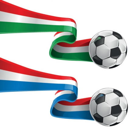 425x425 Abstract 3d Italy And France Flag Football Ribbon Tails Vector