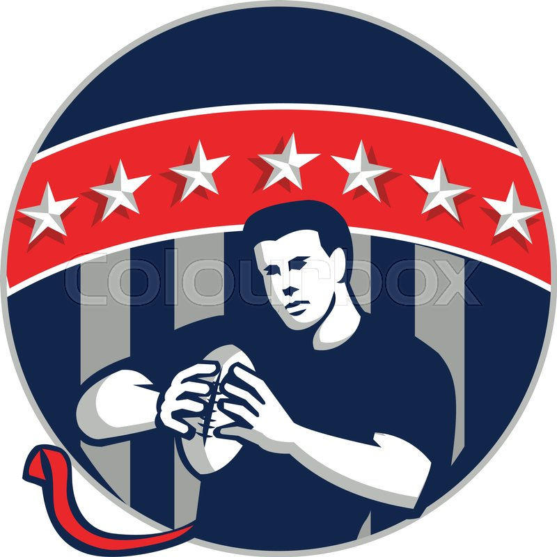 800x800 Illustration Of A Flag Football Player Qb Holding Ball Running Set