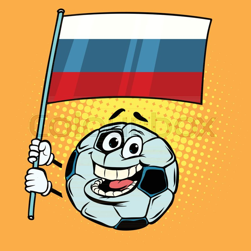 800x800 Russia 2018 World Cup. Country Flag. Football Soccer Ball. Funny
