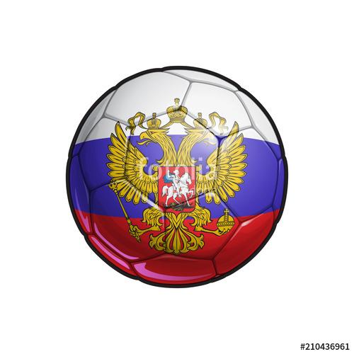500x500 Russian Eagle Flag Football