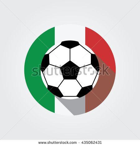 450x470 Soccer Ball. Football Soccer Ball Icon Vector Illustration. Flat