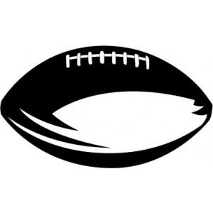 300x300 American Football Vector Clip Art Flag Football Players