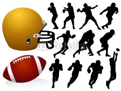 400x300 Vector American Football Silhouettes Buy Photos Ap Images