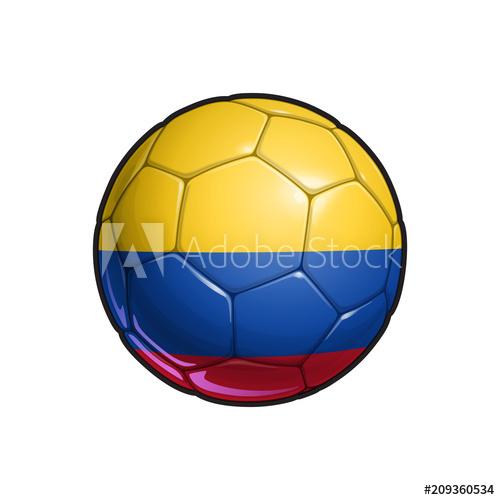 500x500 Colombian Flag Football