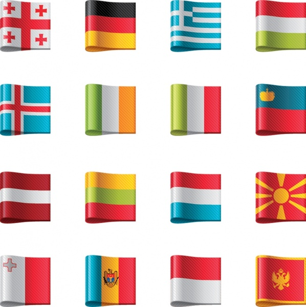 598x600 Flag Flag Icon Vector Ribbon Labels Free Vector In Encapsulated