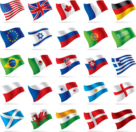 457x444 Flowing Flags Icons Vector Free Vector In Encapsulated Postscript