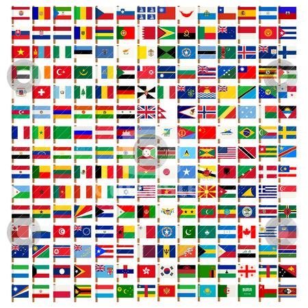 450x450 World Flag Icons Set Stock Vector