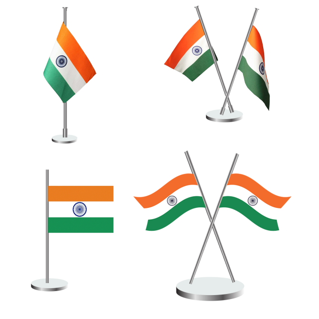 640x640 Indian Flag Vector Design Icon, Indian Flag, Indian Tricolor