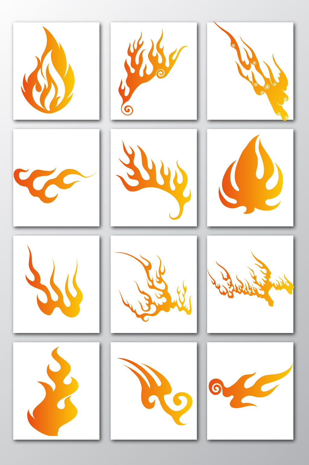 1024x1540 Creative Flame Vector Material Free Download Pikbest