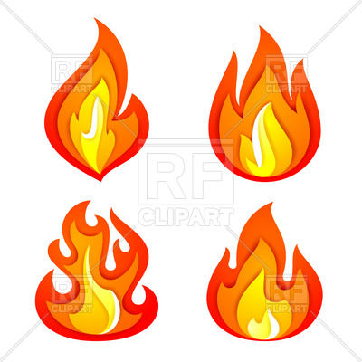 400x400 Clipart Flames Vector Art