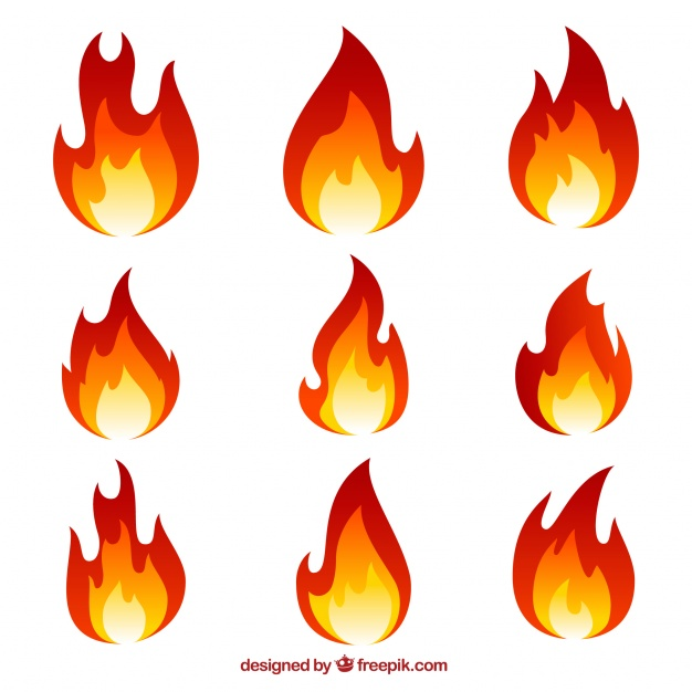 626x626 Collection Of Flames Vector Free Download