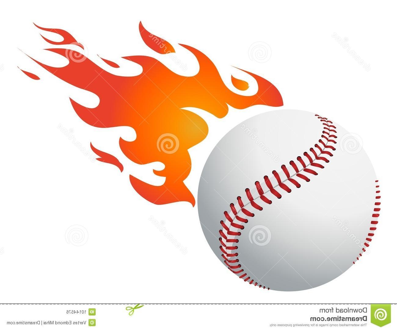 1300x1084 Best 15 Baseball Flames Vector Cdr