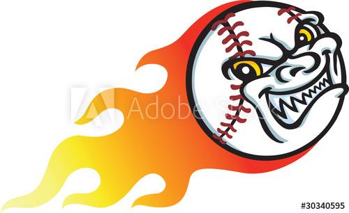500x306 Flaming Baseball
