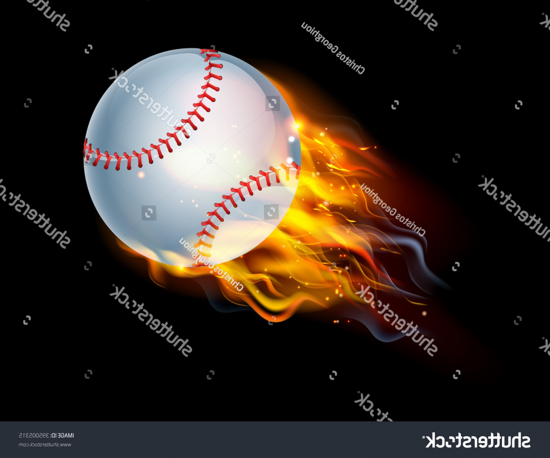 1800x1501 Flaming Baseball Ball On Fire Flying Rongholland