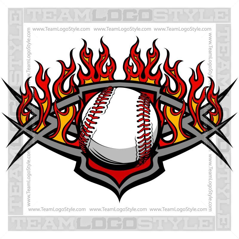 800x800 Flaming Baseball Logo