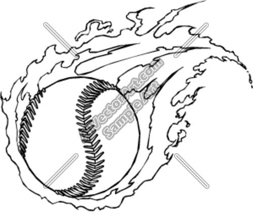 500x418 Flaming Baseball Logo Clipart And Vectorart Sports