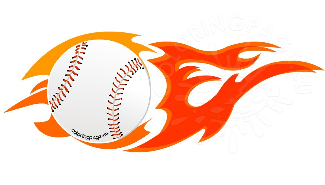 1142x651 Collection Of Flaming Baseball Clipart High Quality, Free