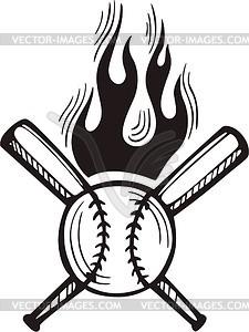 225x300 Flaming Baseball Clipart Image