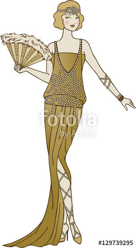 274x500 Flapper Girl Illustration Stock Image And Royalty Free Vector
