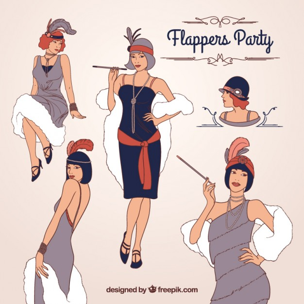 626x626 Flappers Party Vector Free Download