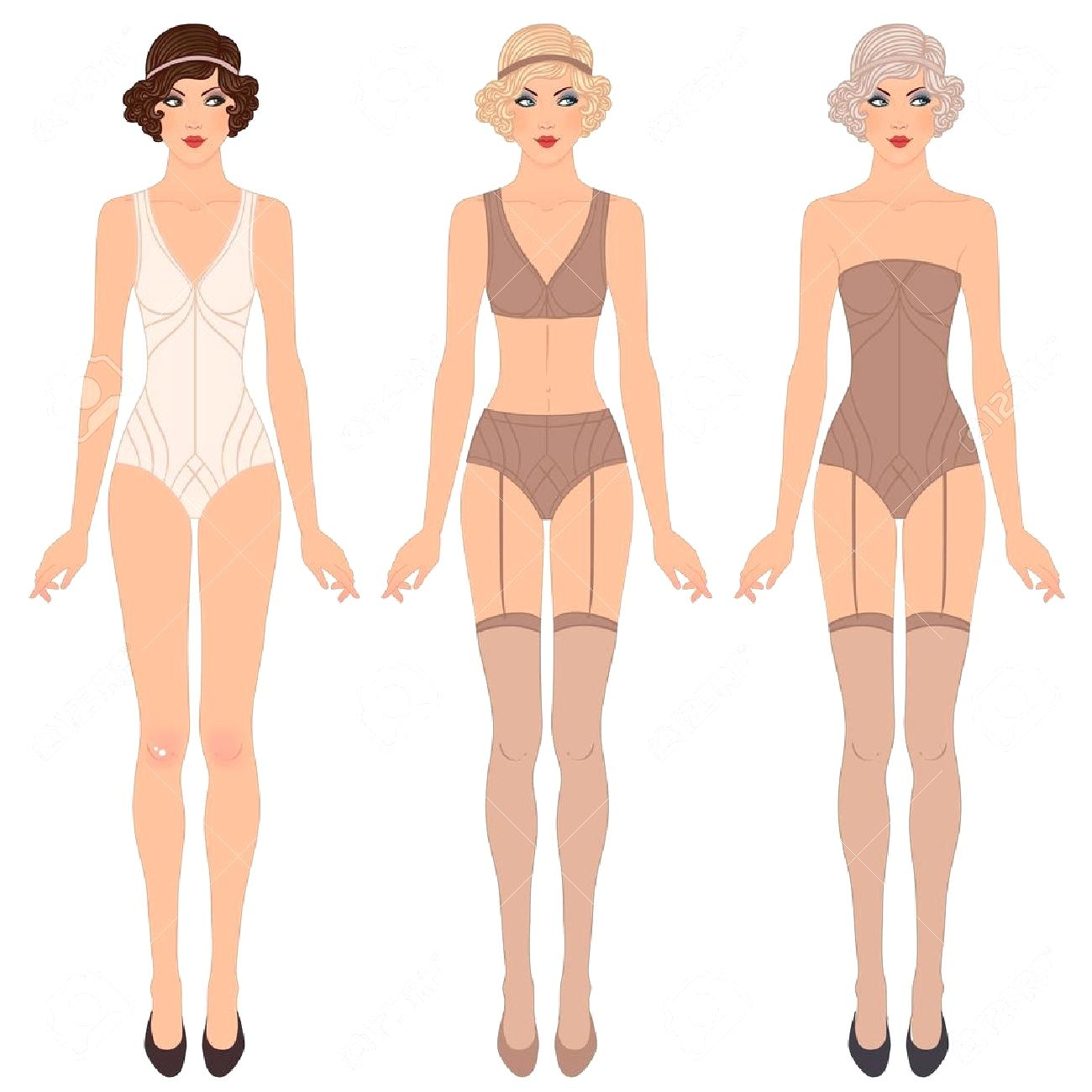 1300x1300 Template Male Paper Doll Template Flapper Girl Retro Party