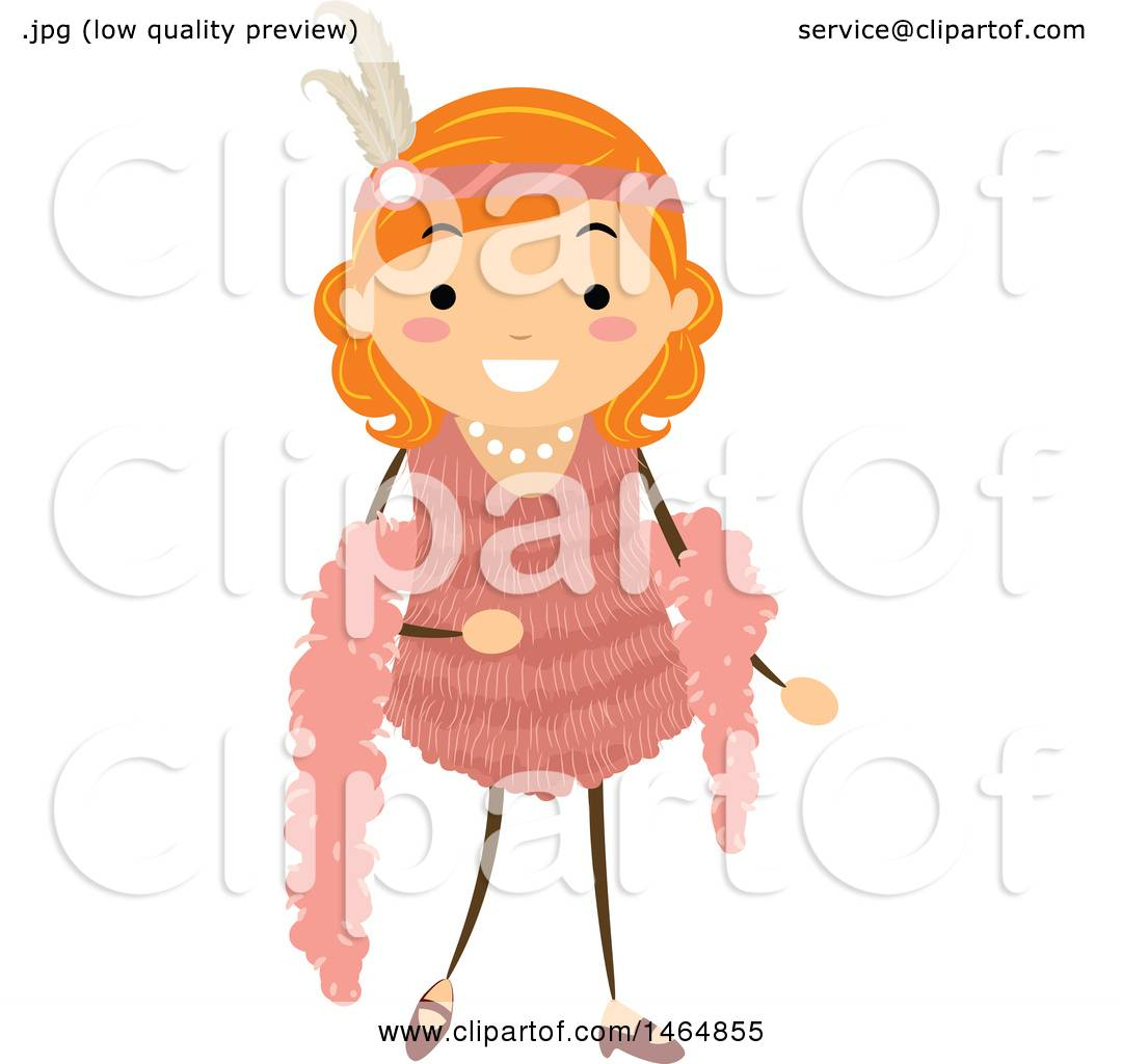 1080x1024 Clipart Of A Flapper Girl In A Pink Dress