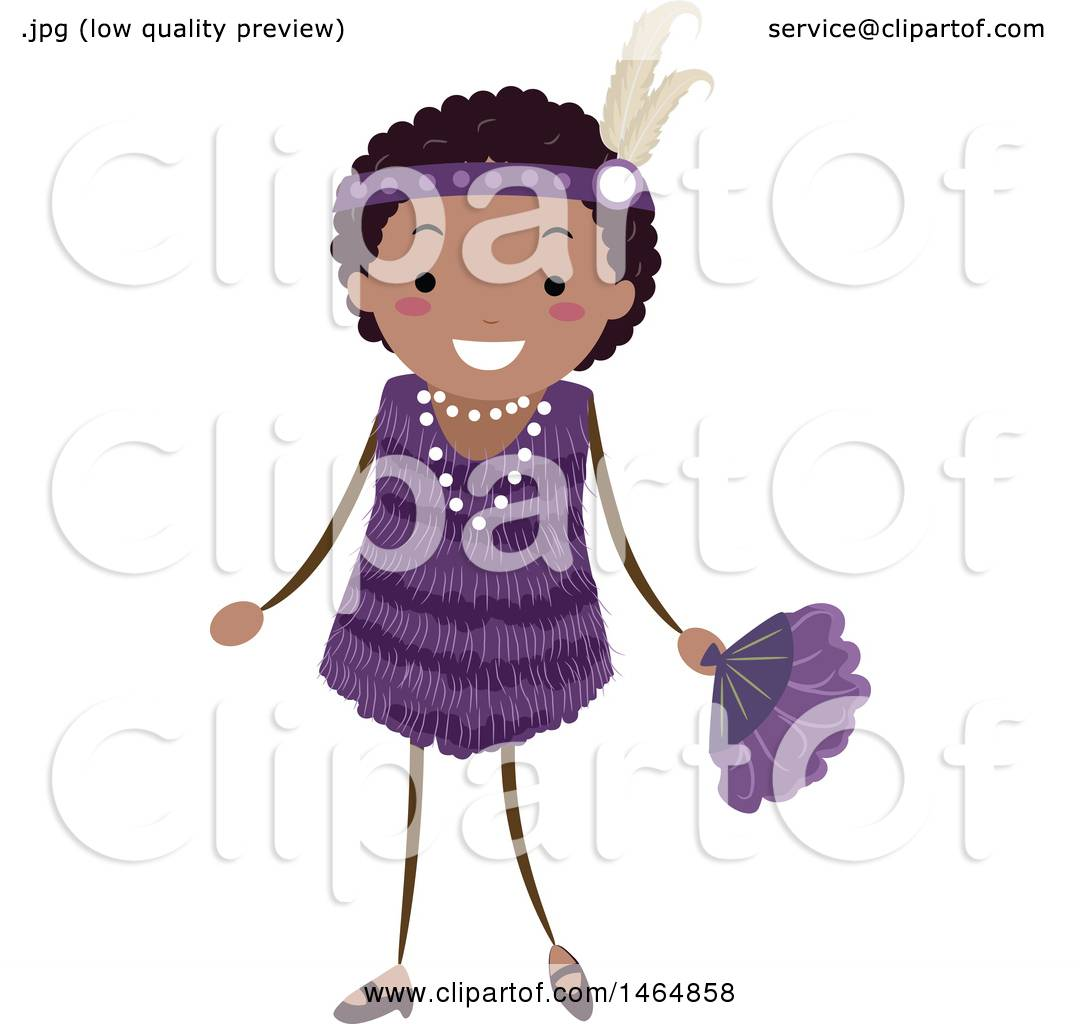 1080x1024 Clipart Of A Flapper Girl In A Purple Dress