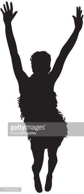 273x626 Dancing Flapper Girl Silhouette Stock Vectors