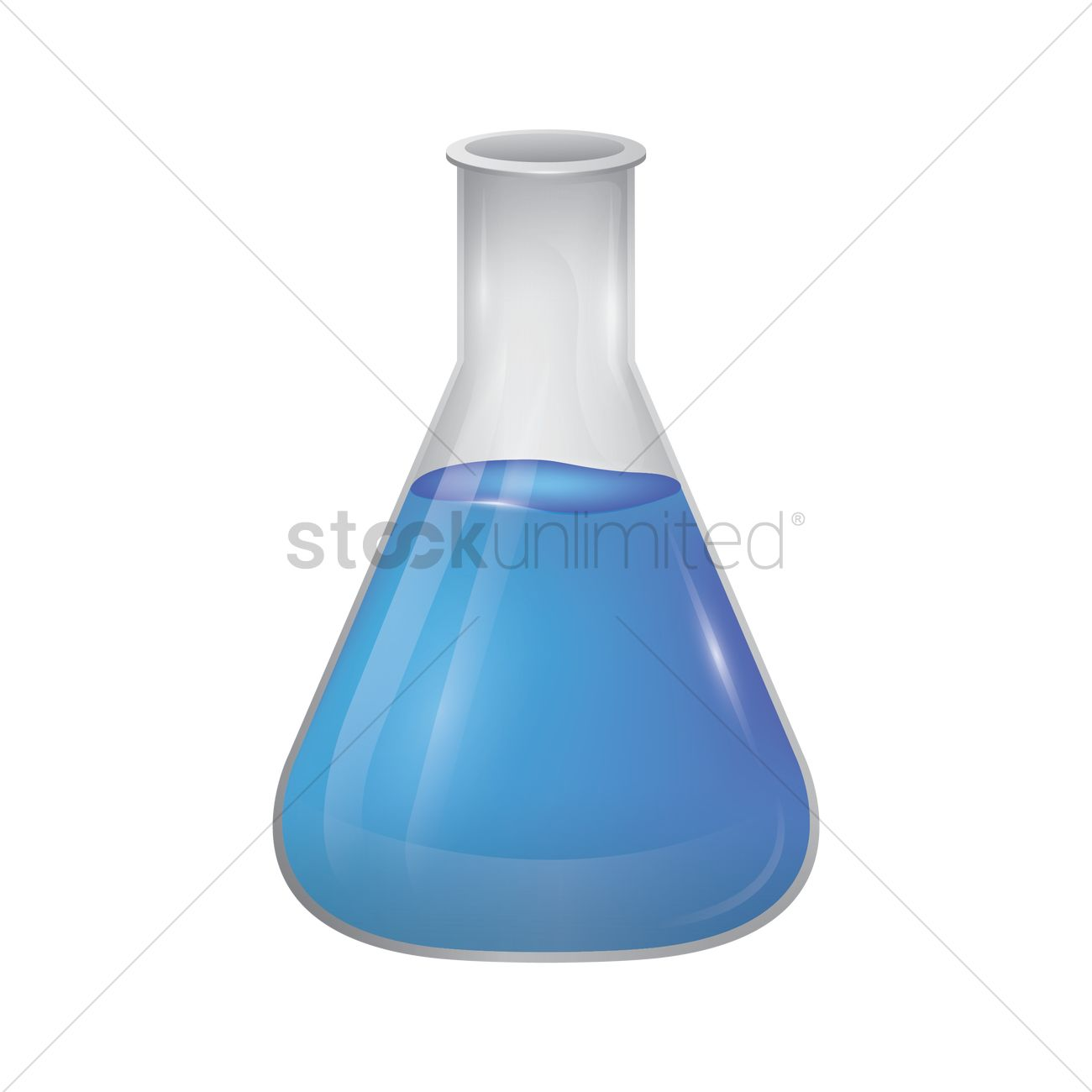 1300x1300 Conical Flask Vector Image