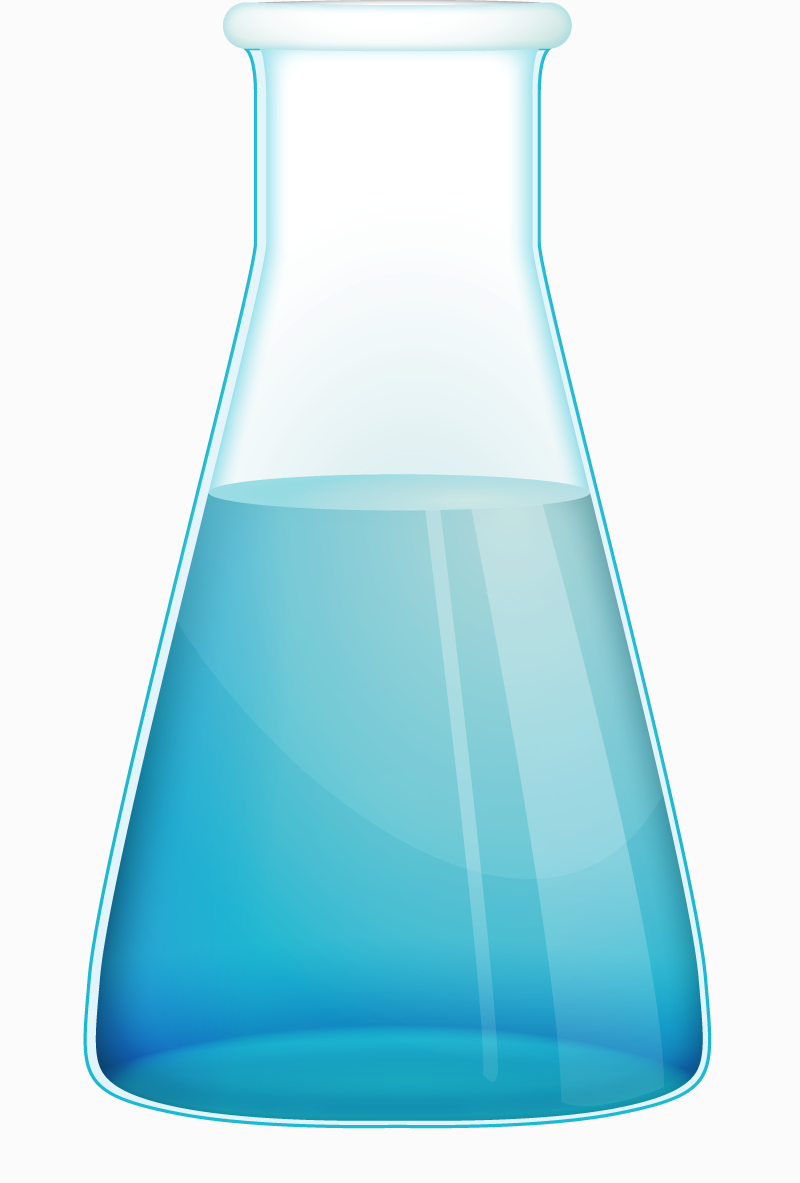 800x1183 Free Chemistry Flask Vector Icon