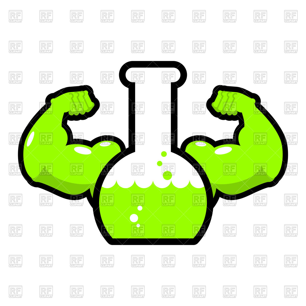 1200x1200 Strong Green Chemical Flask Vector Image Vector Artwork Of