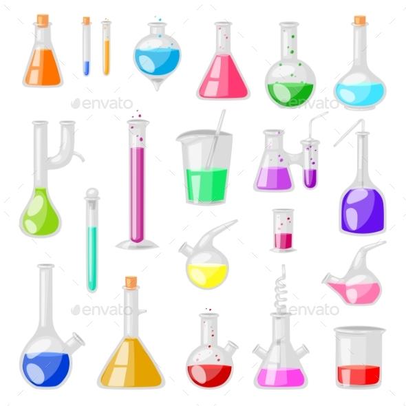 590x590 Test Tube Flask Vector Chemical Glass Test Tubes By Pantimetrok