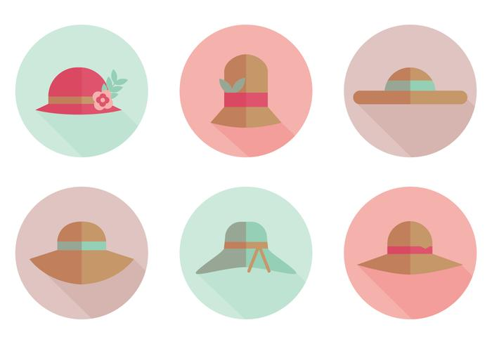 700x490 Flat Hat Vector Icons