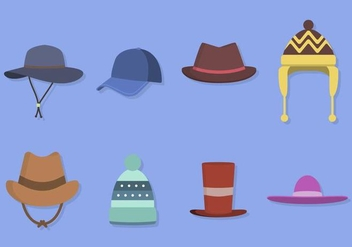 352x247 Flat Hat Vector Icons Free Vector Download 358671 Cannypic