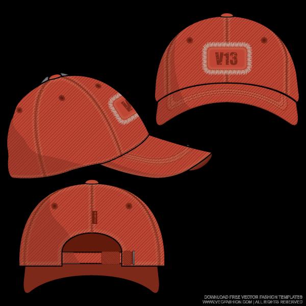 600x600 Baseball Cap Vector Template Flat Baseball Cap