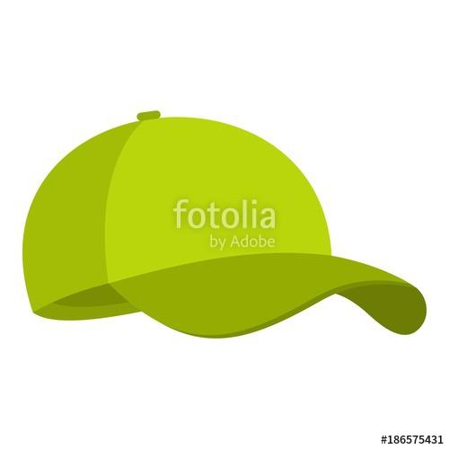 500x500 Green Baseball Cap Icon. Flat Illustration Of Green Baseball Cap