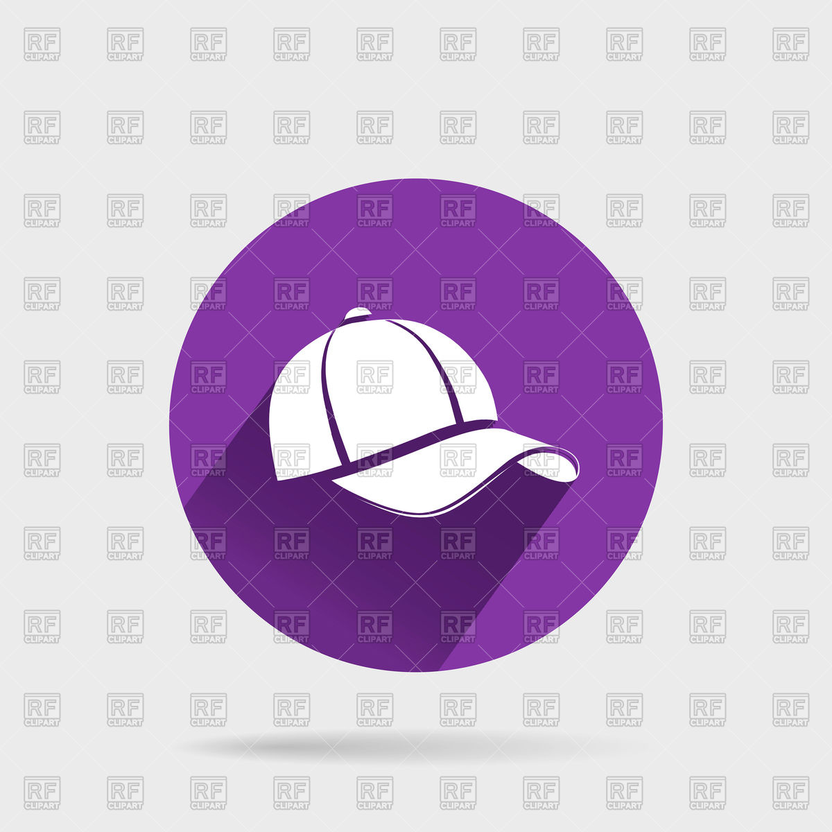 1200x1200 Baseball Cap In Flat Style Icon Vector Image Vector Artwork Of