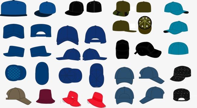 650x357 Variety Hat Vector Material Downloaded,, Hat Vector, Hat, Flat Cap