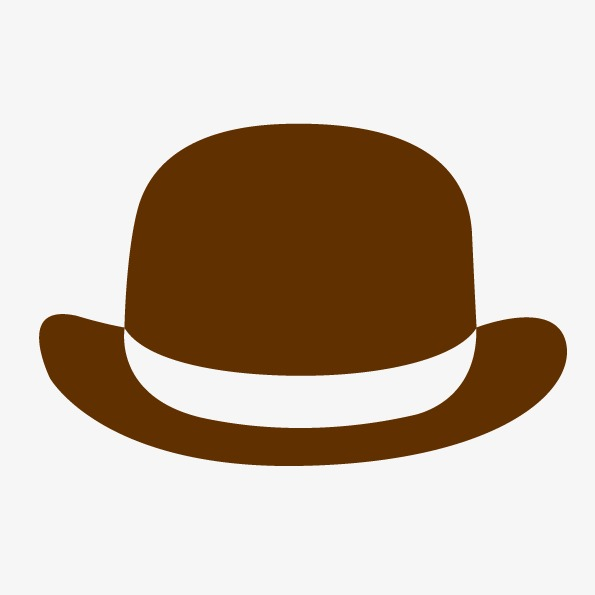 595x595 Vector Element Flat Hat, Topper, Brown Hat, Flat Hat Png And