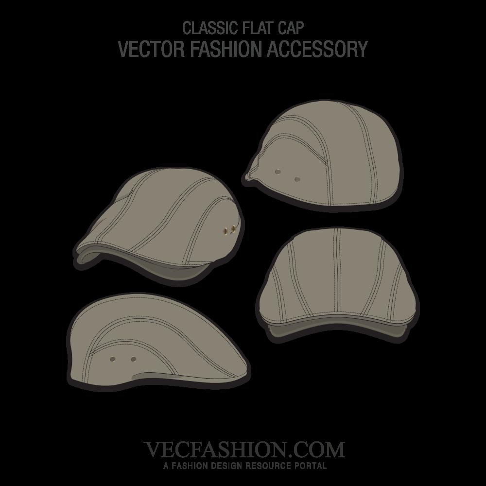 1000x1000 Classic Flat Cap Vector