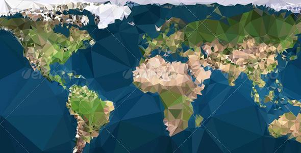 Flat Earth Map Vector