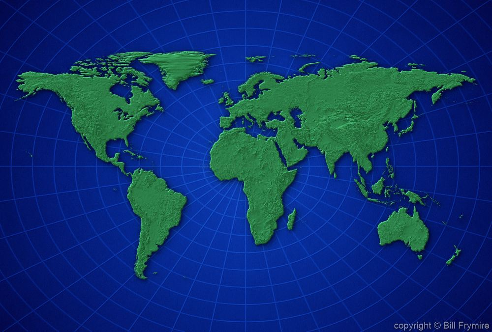 1000x676 Flat Earth Map Vector Flat World Map Vector With Countries Stock