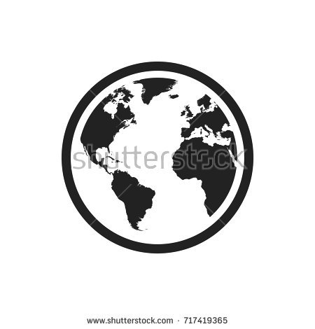 450x470 Flat Earth Map Vector Globe World Map Vector Icon Round Image