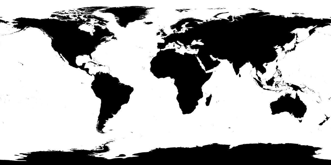 1350x675 Flat Globe Map Vector