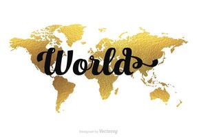 286x200 Flat World Map Free Vector Art