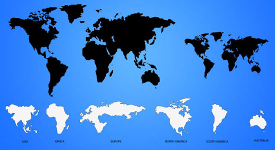 550x300 40 Vector World Map Collection (Eps, Psd, Ai, Svg Amp Png)