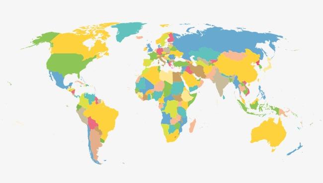 650x368 Flat World Map Plane, World Vector, Map Vector, Plane Vector Png