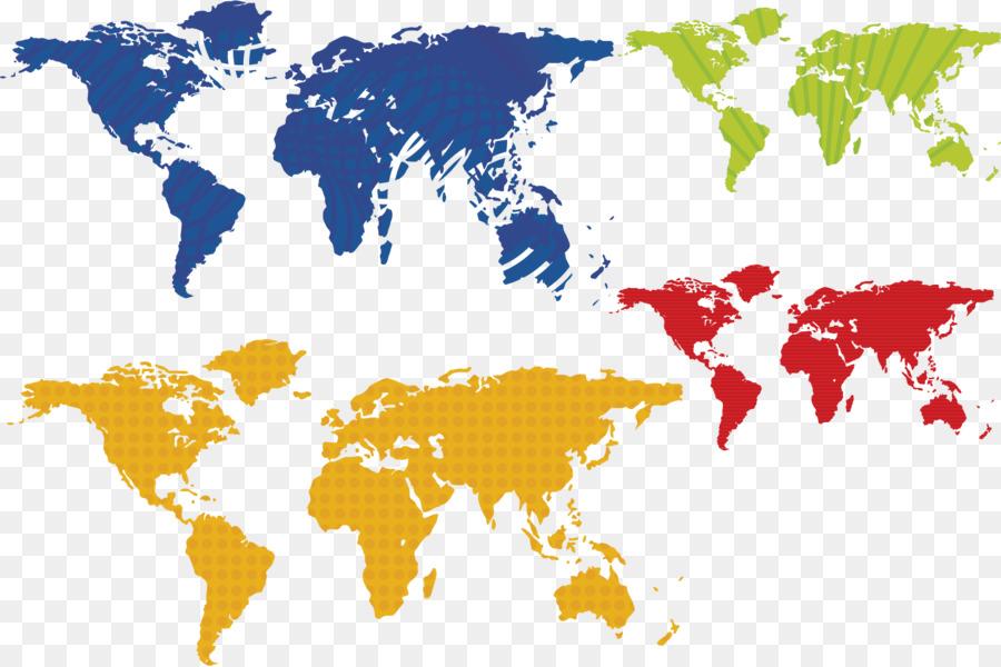 900x600 Globe World Map Vector Map