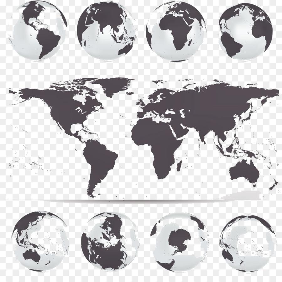 900x900 Globe World Map Vector Map