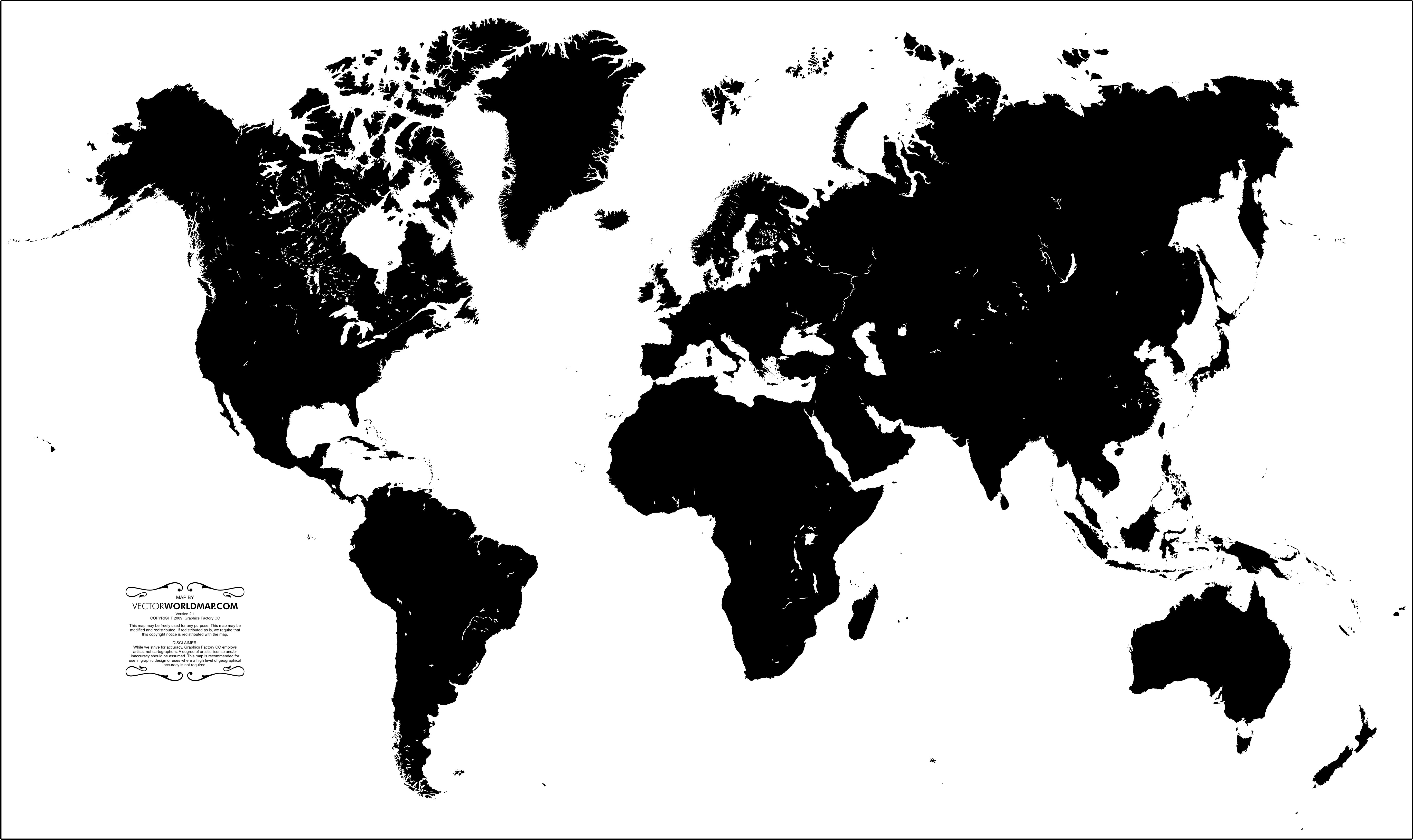 5501x3270 Vector World Map A Free, Accurate World Map In Vector Format